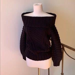 H&M Black Off The Shoulder Sweater - NWOT